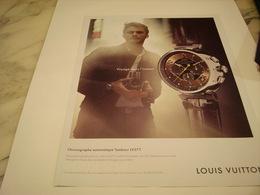 PUBLICITE AFFICHE MONTRE LOUIS VUITTON - Jewels & Clocks