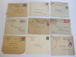 Lot De 9 Enveloppes, Publicités Produits Pharmaceutiques - Advertising