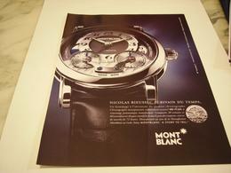 PUBLICITE AFFICHE MONTRE MONT BLANC - Jewels & Clocks