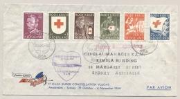 Nederland - 1954 - Rode Kruis Serie + Vincent Van Gogh Op LP-cover Naar Sydney / Australia - Red Cross - Periode 1949-1980 (Juliana)