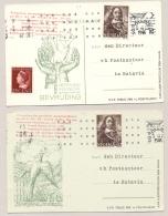 Nederland / Indië - 1945 - 2x 1e Proefvlucht Amsterdam - Batavia - Speciale Kaarten - Brieven En Documenten