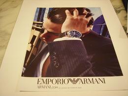 PUBLICITE AFFICHE MONTRE EMPORIA ARMANI - Jewels & Clocks
