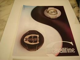 PUBLICITE AFFICHE MONTRE CAVALLI - Jewels & Clocks