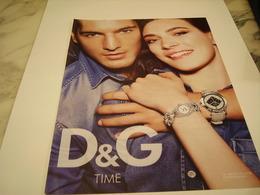 PUBLICITE AFFICHE MONTRE DOS &GABBANA - Jewels & Clocks