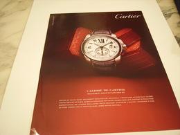PUBLICITE AFFICHE MONTRE CARTIER - Jewels & Clocks