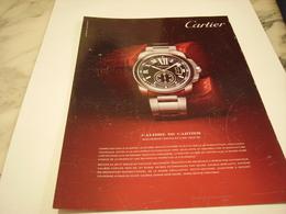 PUBLICITE AFFICHE MONTRE CARTIER - Bijoux & Horlogerie