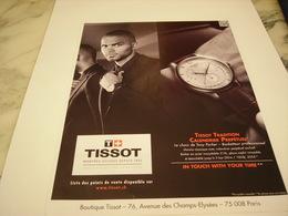 PUBLICITE AFFICHE MONTRE TISSOT AVEC TONY PARKER - Jewels & Clocks