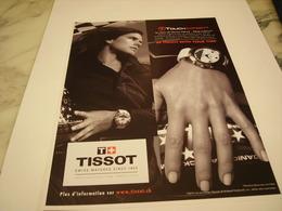 PUBLICITE AFFICHE MONTRE TISSOT AVEC DANICA PATRICK - Jewels & Clocks