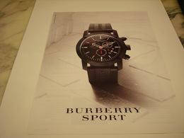 PUBLICITE AFFICHE MONTRE BURBERRY SPORT - Jewels & Clocks