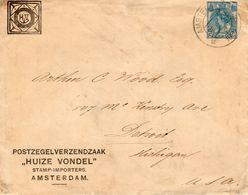 "Env. G21b M. Particuliere Bijdruk POSTZEGELVERZENDZAAK ""HUIZE VONDEL"" Van Amsterdam  22 APR 20 Naar Detroit Met Vignet - Postal Stationery"