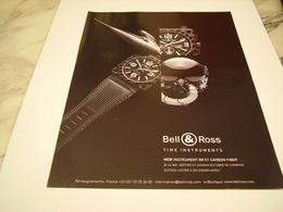 PUBLICITE AFFICHE MONTRE BELL & ROSS - Jewels & Clocks