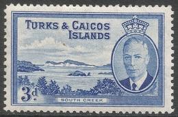 Turks & Caicos Islands. 1950 KGVI. 3d MH. SG 226 - Turks And Caicos