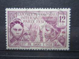 VEND BEAU TIMBRE DES ETABLISSEMENTS FRANCAIS DANS L ' INDE N° 106 , X !!! - India (1892-1954)