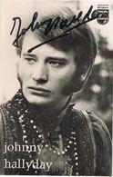 JOHNNY HALLYDAY - Autographe De 1967 - Photo Georges Chatelain - Autographs