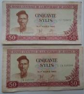 AV861  Lot Of 48 Pcs Of  World Paper Money Guinea Romani Philipines Nigeria Zaire Colombia  Good To UNC - Billets