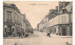 Pontivy -  24 - La Rue Nationale - Tabac - Societe Generale -  CPA° - Pontivy