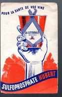 Béziers (34 Hérault) Prospectus SULFOPHOSPHATE HUBERT (la Lttorale)  (PPP7530) - Advertising