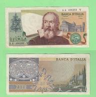 2000 2.000 Lire 1983 Galileo Repubblica Italiana Ciampi Stevani - [ 2] 1946-… : Republiek
