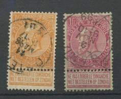 64 Et 65   Les Deux 1F Ø Ronde  Cote 31,50E - 1893-1900 Schmaler Bart