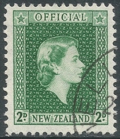 New Zealand. 1954 QEII Official. 2d Used. SG O161 - Officials