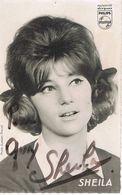 SHEILA - Autographe - Photo AUBERT - Philips - Autographs