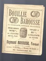 Toulouse (31 Haute Garonne) Prospectus BOUILLIE BAROUSSE (PPP7532) - Advertising