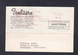 EMA Valisere Le Trefle Grenoble 16 X 36 Carte Lettre Vers Joinville Haute Marne - Marcophilie (Lettres)