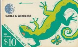 Caribbean Islands - Lizard - 213BCAA - Phonecards