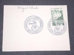 ANDORRE - Oblitération Temporaire Sur Enveloppe En 1956 - L 13434 - Lettres & Documents