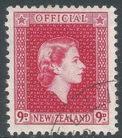 New Zealand. 1954 QEII Official. 9d Used. SG O165 - Officials