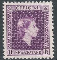 New Zealand. 1954 QEII Official. 1/- MNH. SG O166 - Officials