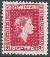 New Zealand. 1954 QEII Official. 9d MNH. SG O165 - Officials