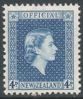 New Zealand. 1954 QEII Official. 4d MNH. SG O164 - Officials