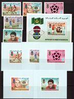 Mauritania-1978,(Mi.615-619,Bl.22), + 5 Luxe,Football, Soccer, Fussball,calcio,MNH - World Cup