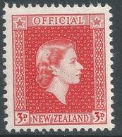 New Zealand. 1954 QEII Official. 3d MNH. SG O163 - Officials