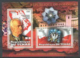 J1431 2012 DU TCHAD LEADERS FAMOUS PEOPLE WWII KAZIMIERZ SOSNKOWSKI 1BL MNH - 2. Weltkrieg