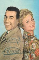 Annie CORDY Et Luis MARIANO - Autographes 1963 - Photo Sam Levin - Autographs