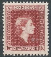 New Zealand. 1954 QEII Official. 1½d MH. SG O160 - Officials