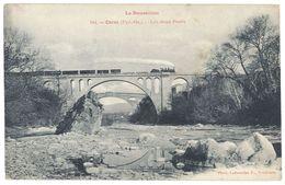 Cpa Céret - Les Deux Ponts  ( Train ) - Ceret