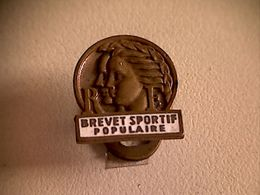 Epinglette Boutonnière Brevet Sportif Populaire - Other Collections