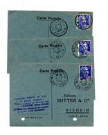 Carte Postale Cachet Wasselonne Molsheim Saverne Sur Gandon - Marcophilie (Lettres)
