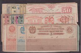COLOMBIE : VIGNETTES . DE RECOMMANDATION . 1865/00 . 30EX . AB à B . - Colombie