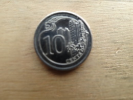 Singapour   10  Cents  2015  Km !!! - Singapour