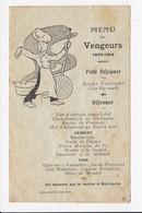 CPA MENU DES VENGEURS 1870-1914  Illustration - Humour