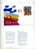 Lettre Fdc 1991 Skansen - FDC