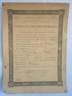 Certificat D'études Primaires De Mr VILAIRE MAURICE ( Ancien Du Levant AFL ) école De LUZY Académie De DIJON 1913 - Diploma & School Reports