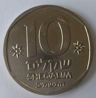 Monnaies - Israel - 10 Sheqalim - (1982-1985) - Superbe - - Israel