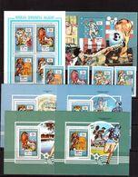 Madagascar-1992,(Mi.1399-1402,Bl.201-205), + Sheet+4 Luxe,Football, Soccer, Fussball,calcio,MNH - World Cup