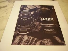 PUBLICITE AFFICHE MONTRE RADO - Vintage Clothes & Linen