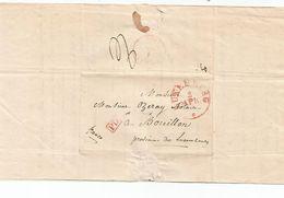 Lettre De LUXEMBOURG  Du 4 Avril 1841 Pour Bouillon , Province De Lux.  En P.D Rouge. - Luxembourg
